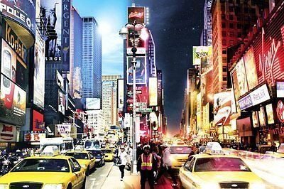 New York City Day and Night Times Square Poster Print 24x36