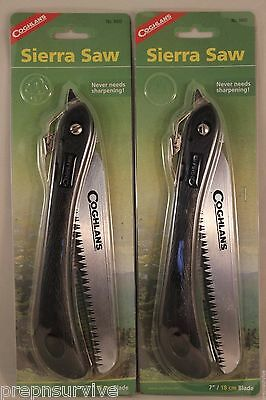 """2 Pk Sierra Folding Saw 7"""" High Carbon Heat Treated Chrome Plated Tapered Blade,"""