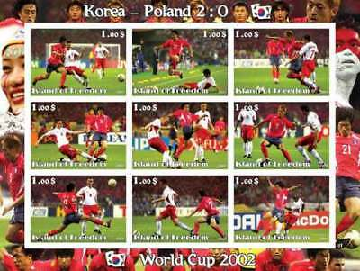 World Cup 2002 Football on Stamps - 9 Stamp  Sheet  - 6406