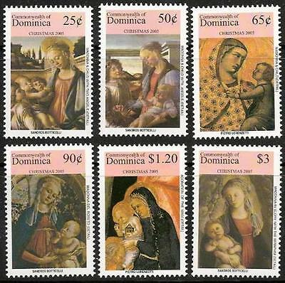 Dominica - Christmas 2005, Artworks - Mint Set of 6 Stamps DOM0522