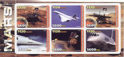 Mars Exploration and Space On Stamps - 2004 - 6 Stamp Sheet - M0741