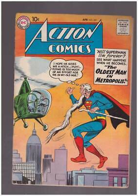 Action Comics # 251  The Oldest Man in Metropolis !  grade 2.0 Silver age DC