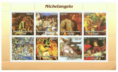 Michelangelo Paintings on Stamps 9513