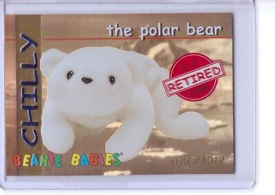 Beanie Card RARE CARD INSERT ONLY 4050 Ty S1 RED Retired  *Teddy New Face Bear