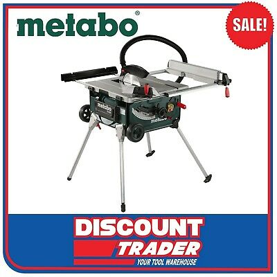 Metabo 2000W 254mm Table Saw with Stand and Trolley TS 254 600668190