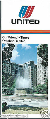 Airline Timetable - United - 26/10/75 - Grand Circus Park Detroit Cover