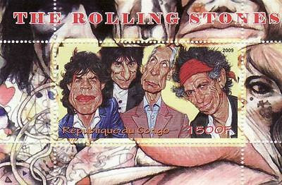 The Rolling Stones on Stamps -  Stamp Souvenir Sheet  - SV0424