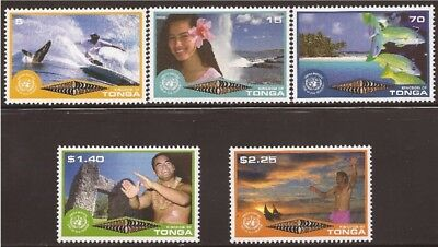 Tonga - 2002 Eco Tourism - 5 Stamp Set- 20N-017