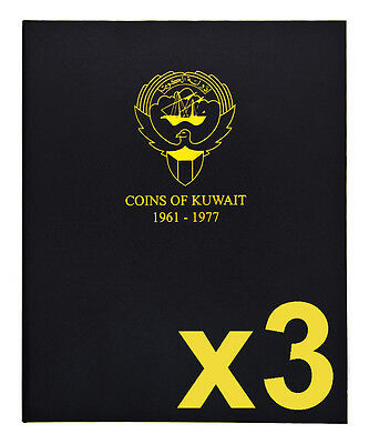 Kuwait 1961-2012 Complete Set of 3 Coin Albums SAVE ON S&H