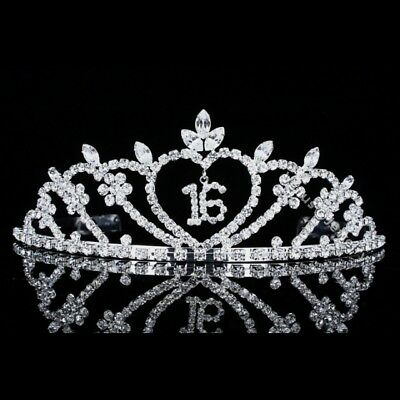 Sweet 16 Birthday Party Rhinestone Crystal Princess Crown Tiara 8499