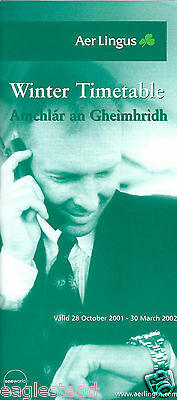 Airline Timetable - Aer Lingus - 28/10/01