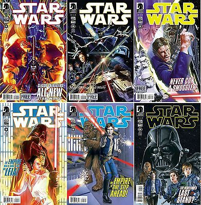STAR WARS 2013 Ongoing Comic Lot (6) issue Run #1 2 3 4 5 6 Alex Ross 1st print