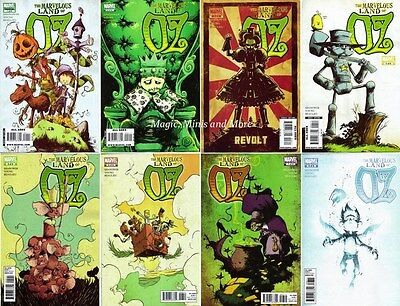 The MARVELOUS LAND OF OZ 1 2 3 4 5 6 7 8 Comic SET 1st SHANOWER Wizard Oz Series
