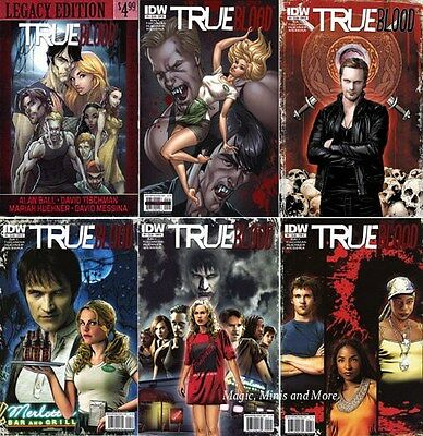 TRUE BLOOD (6) Comic Set Issue #1 2 3 4 5 6 B Legacy Cover 1st print IDW