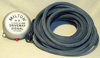 Milton Driveway Service Gas Station Signal Bell w/50' of Hose-NEW