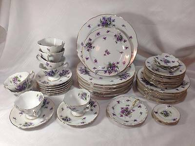 48 Pieces of Rossetti Chicago USA Occupied Japan Spring Violet Service for 8