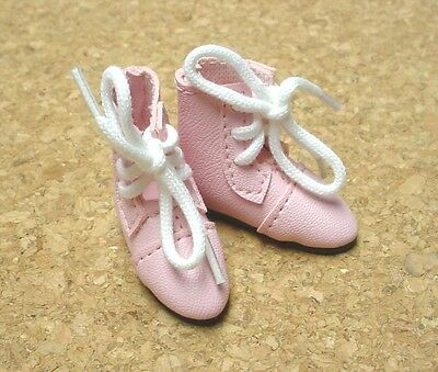Doll Shoes, 38mm Custom LIGHT PINK BOOTS for Marley Wentworth