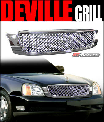 2000-2005 Cadillac Deville Chrome Luxury Honeycomb Mesh Front Hood Bumper Grill