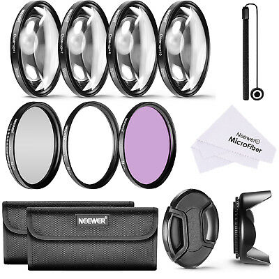 55mm Lens Filter and Close-up Macro Accessory Kit for Canon Nikon Sony Samsung