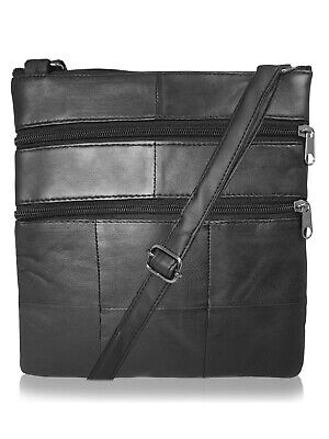 Mens Mans Small Leather Travel Pouch Man Bag Neck Shoulder Holster Bags RL178M