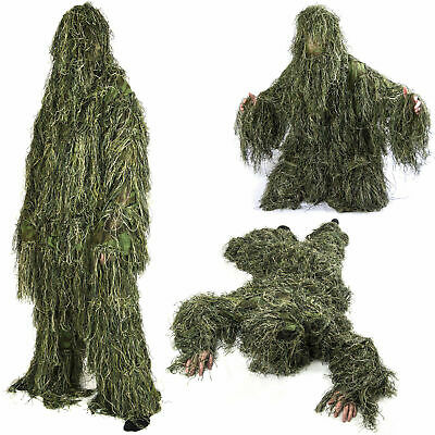 Nitehawk Adults Military 3D Woodland Camouflage Military Hunting Ghillie Suit