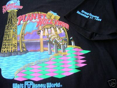 Cast Member Disney PLANET HOLLYWOOD Grand Opening 1994 Sz Extra Large T-Shirt