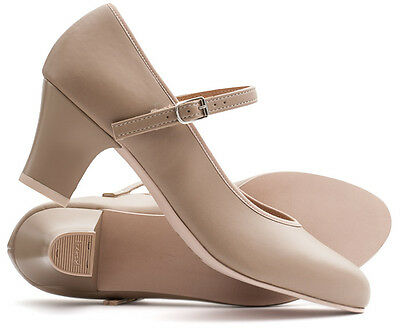 """Ladies Tan Nude Character Stage Showtime Dance Shoes All Sizes Katz Dancewear 2"""""""