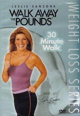 LESLIE SANSONE WALK AWAY THE POUNDS 30 MINUTE DVD NEW WALKING AT HOME EXERCISE