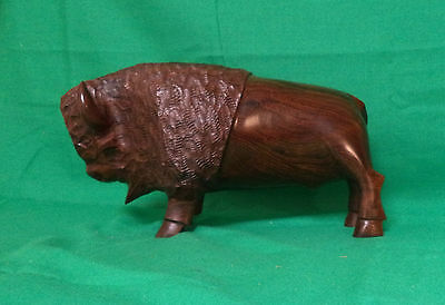 Large Carved Ironwood Buffalo/bison