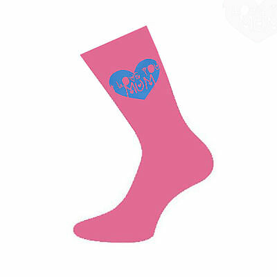 Love You Mum Hot Pink Socks Mothers Day or Mums Birthday