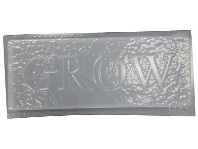 Grow Stone Look Patio Plaque Garden Concrete Plaster Stepping Stone Mold 7181