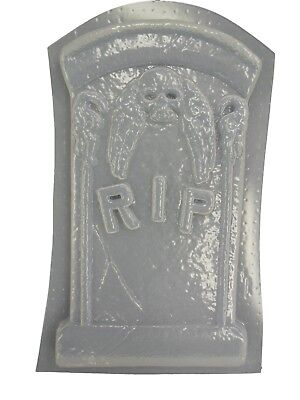 RIP Tombstone Halloween Plaster Cement or Concrete Mold 8000 Moldcreations