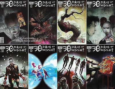 30 DAYS OF NIGHT Ongoing (8) Comic Run #1 2 3 4 5 6 7 8 IDW Steve Niles Vampire