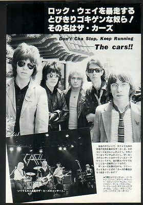 1978 The Cars JAPAN mag photo pinup w/ text / vintage clipping Ben Orr c011m