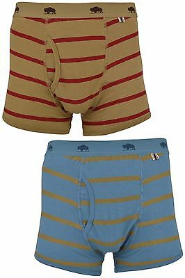 Bellfield Men's Two Pairs Of Designer Striped Boxer Trunks Shorts Boxers