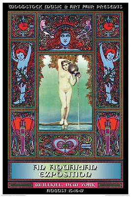 Woodstock Aquarian Exposition Promo Concert Art Poster size 24x36