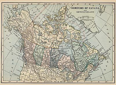 Antique CANADA Map 1931 Vintage Map of Canada Gallery Wall Art  smap 1027