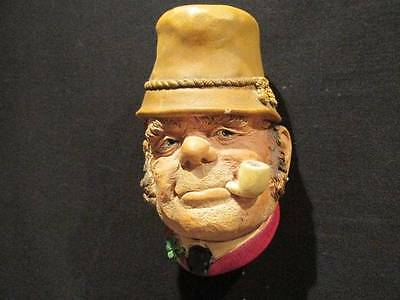 "Paddy 1969 Vintage Bosson's Head  Chalkware Congelton England ""I"" mark on back"