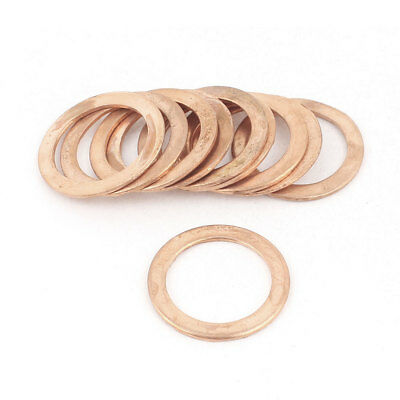 10PCS 22mm OD 16mm ID 1mm Thick Copper Washer Flat Ring Oil Brake Line Seal