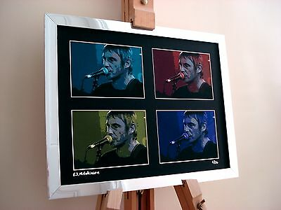 Paul Weller Ltd Edition Signed Pop Art Canvas