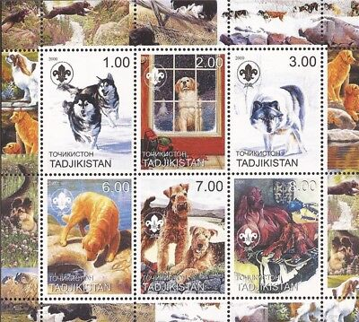 2000 Dogs - 6 Stamp Sheet -   - 20A-116