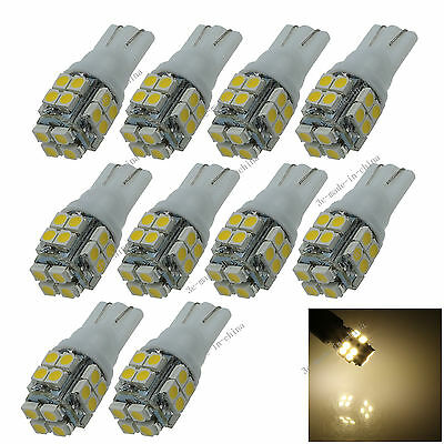 10X T10 20 SMD1210 LED Warm White Super Bright Car Lights Bulb 194,168, W5W A029