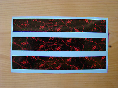 ARROW WRAPS 13 PACK CARBON FIBER WITH RED FLAMES FADE ARROW BUILDING