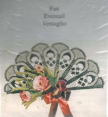 Fan Thread Crochet KIT Christmas Green Doily or Wall Hanging NEW Holiday