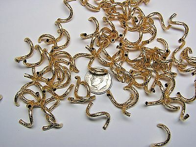 21mm X 2mm PATTERNED GOLD-FILLED CURLY Q BEAD - 12 PIECES!!! HANDMADE!!!