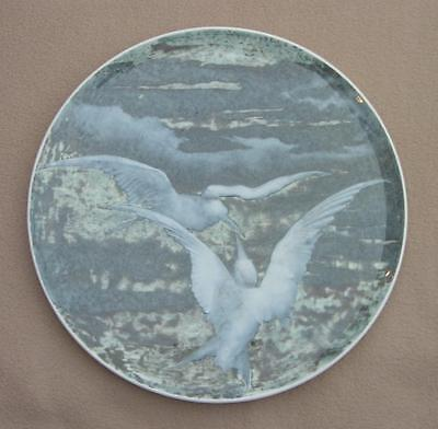 SEVRES PARIS LARGE CHARGER PLATE BIRDS SEAGULLS BY ESCALLIER PATE SUR PATE C1888