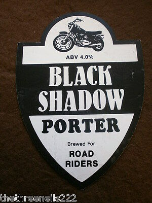 Beer Pump Clip - Black Shadow Porter For Road Riders