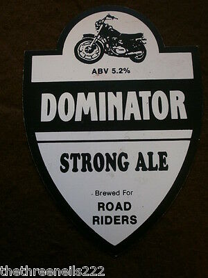 Beer Pump Clip - Dominator Strong Ale For Road Riders