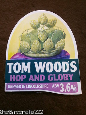 Beer Pump Clip - Tom Wood's Hop And Glory