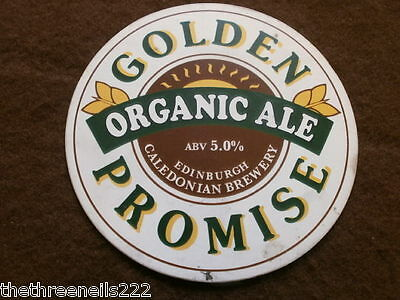 Beer Pump Clip - Caledonian Golden Promise Organic Ale